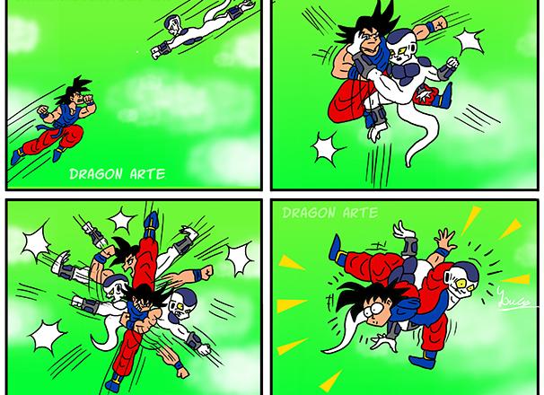 Goku y Freezer