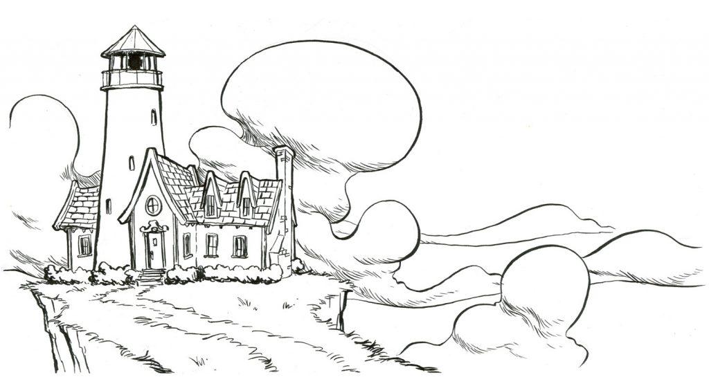 Primera ilustración del Inktober