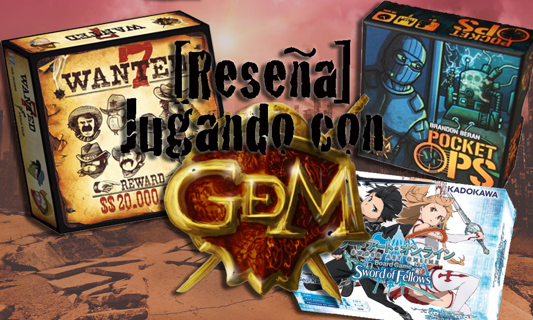 Cabecera de la entrada, el logo de GDM y detrás las cajas de los juegos a reseñar.