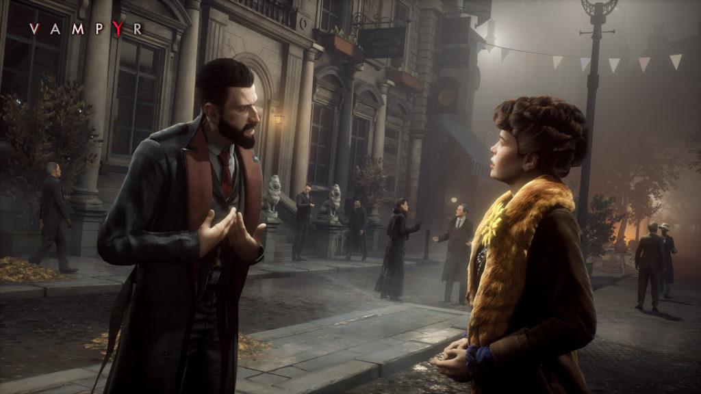 Imagen promocional del juego Vampyr
