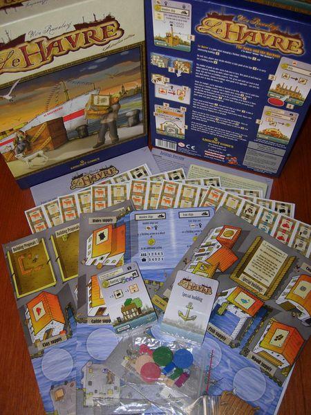 Imagen del contenido del juego de mesa Le Havre