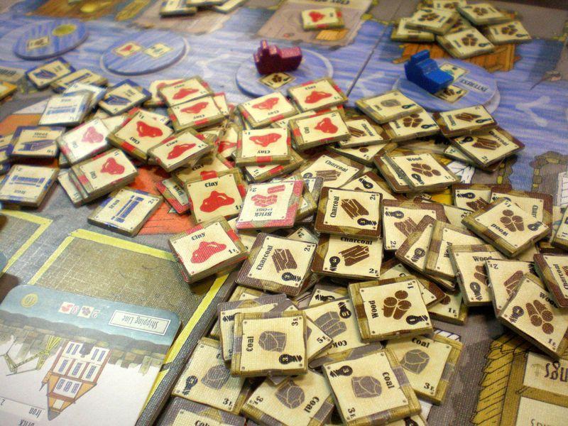 Imagen de los recursos del juego de mesa Le Havre