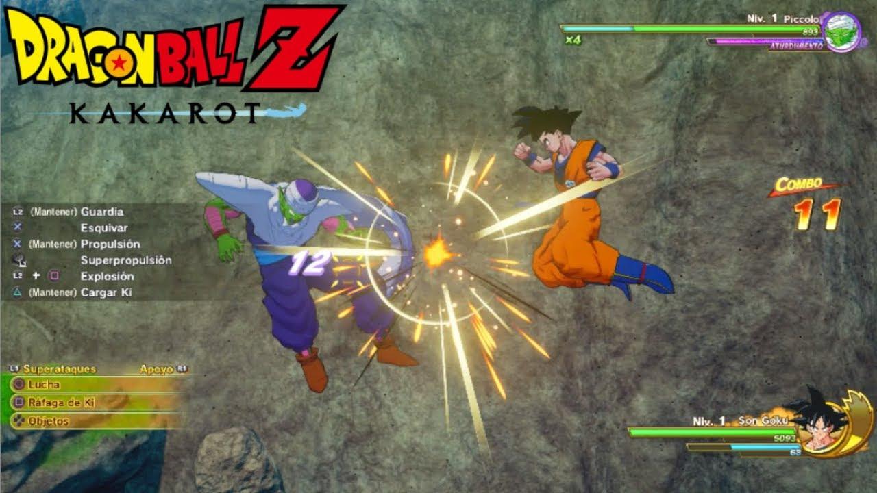 Un combate entre Piccolo y Goku en Dragon Ball Z Kakarot